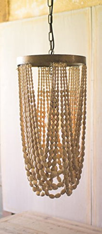 Draping Wooden Bead Chandelier - Les Spectacles French Industrial