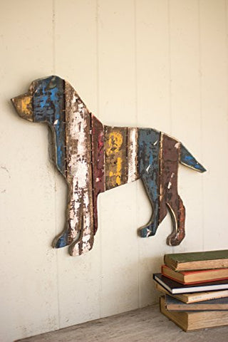 Reclaimed Wood Dog Wall Hanging - Les Spectacles French Industrial