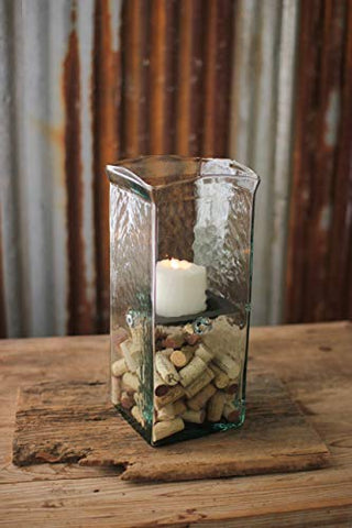 Square Candle Hurricane -  Medium 6X6X15 - Les Spectacles French Industrial