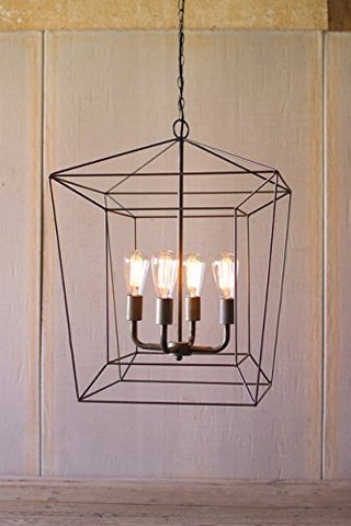 Square Iron Bar Pendant Light - Les Spectacles French Industrial