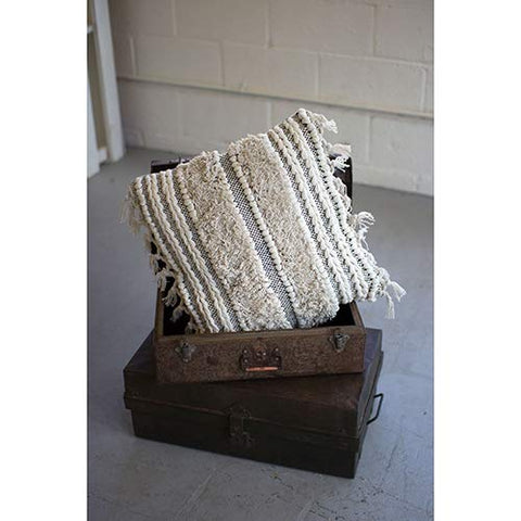 Striped Moroccan Wedding Pillow - Les Spectacles French Industrial