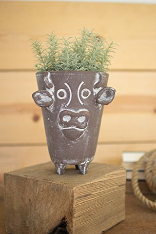 Clay Cow pot - Les Spectacles French Industrial