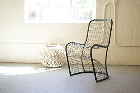 Woven Metal Dining Chair - Les Spectacles French Industrial