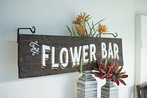 Wooden Flower Bar Sign - Les Spectacles French Industrial