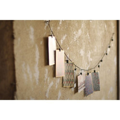 Chain Garland With Twelve Clips - Les Spectacles French Industrial