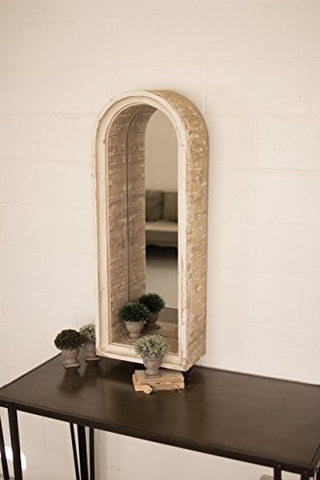 Wooden Arched Frame Mirror - Les Spectacles French Industrial
