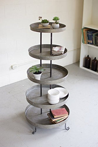 Five Tiered Round Metal Display Tower - Les Spectacles French Industrial