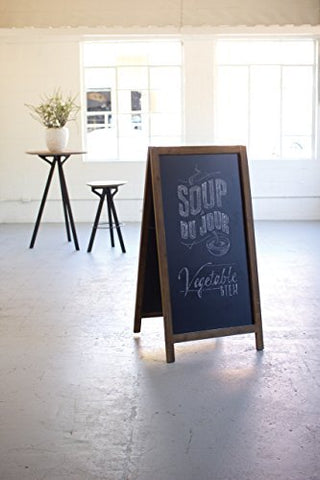 Large Wooden Sandwich Chalk Board - Les Spectacles French Industrial