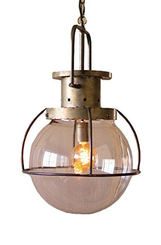 Glass Globe Pendant Light - Les Spectacles French Industrial