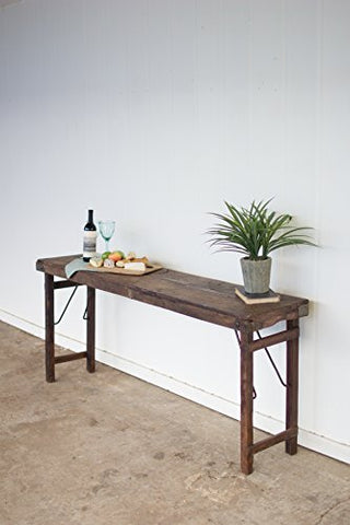 Wooden Folding Console Table - Les Spectacles French Industrial