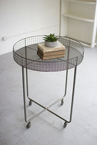 Rolling Round Wire Display Table - Tall - Les Spectacles French Industrial