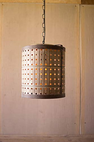 Perforated Metal Pendant Light - Les Spectacles French Industrial