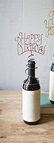 Wine Bottle Topper-Happy Birthday - Les Spectacles French Industrial