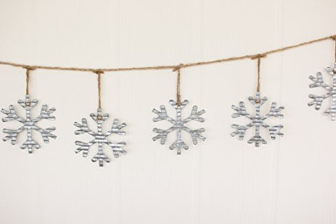Metal Snowflake Garland - Les Spectacles French Industrial