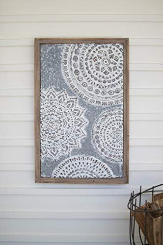 Wood Framed Pressed Metal Wall Art #2