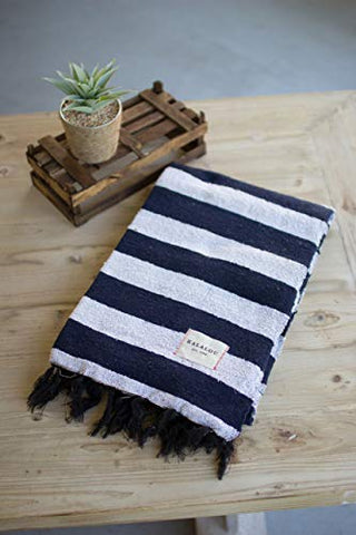 Cotton Throw - Blue And White - Les Spectacles French Industrial