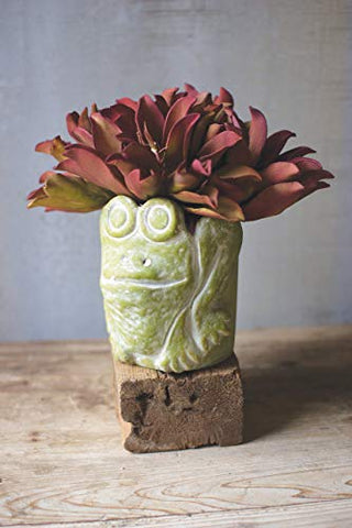 Green Clay Frog pot - Les Spectacles French Industrial