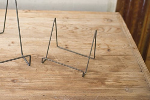 Wire Easel With Raw Metal Finish - Small - Les Spectacles French Industrial