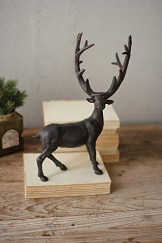 Cast Iron Rustic Standing Deer - Les Spectacles French Industrial