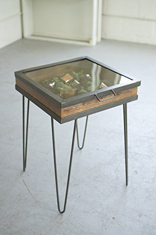 Display Table With Hinged Glass Top - Small - Les Spectacles French Industrial
