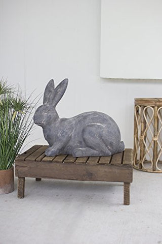 Faux Stone Sitting Rabbit - Les Spectacles French Industrial