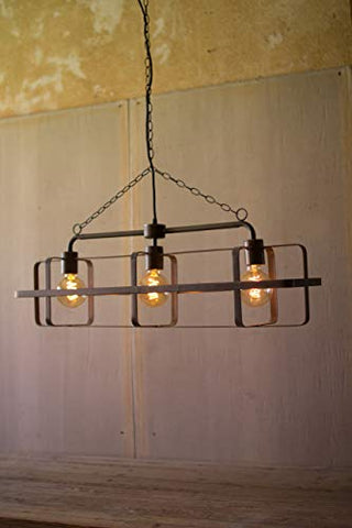 Metal Three Light Pendant - Les Spectacles French Industrial