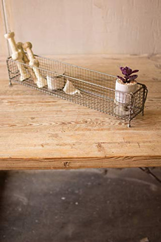 Rectangle Raw Metal Wire Basket - Les Spectacles French Industrial