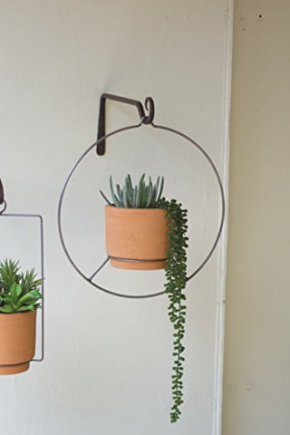 Round Hanging Natural Clay pot - Les Spectacles French Industrial