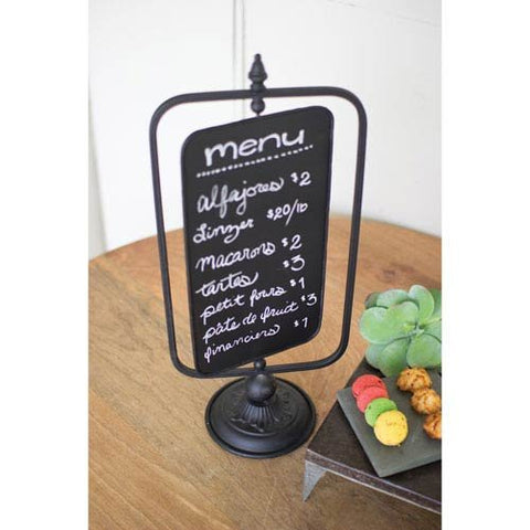 Table Top Swivel Chalkboard Sign - Les Spectacles French Industrial
