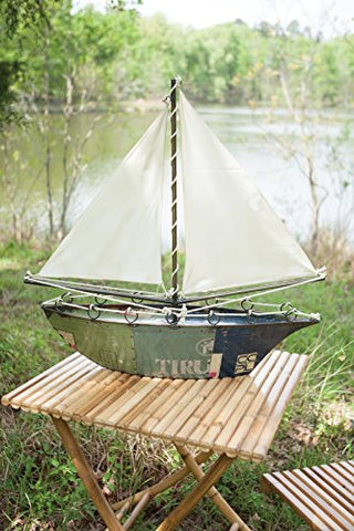 Recycled Iron Sail Boat - Les Spectacles French Industrial