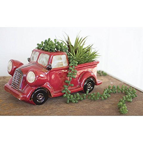 Ceramic Red Truck pot - Les Spectacles French Industrial