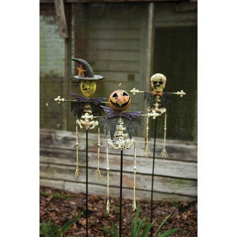 Set Of Three Halloween Yard Stakes