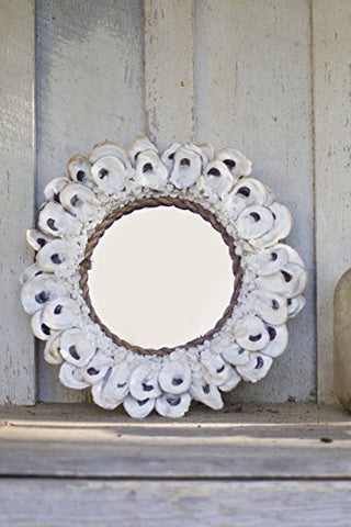 Small Round Oyster Shell Mirror - Les Spectacles French Industrial