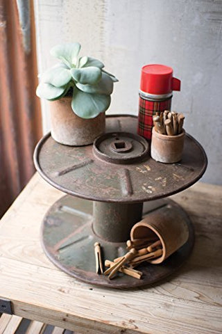 Reclaimed Iron Cable Spool Display Stand - Les Spectacles French Industrial