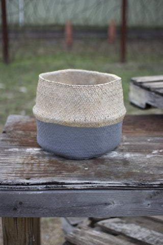 Woven Cement pot - Natural And Grey - Les Spectacles French Industrial