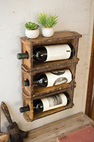 Hanging  Brick Mold Wine Rack - Les Spectacles French Industrial