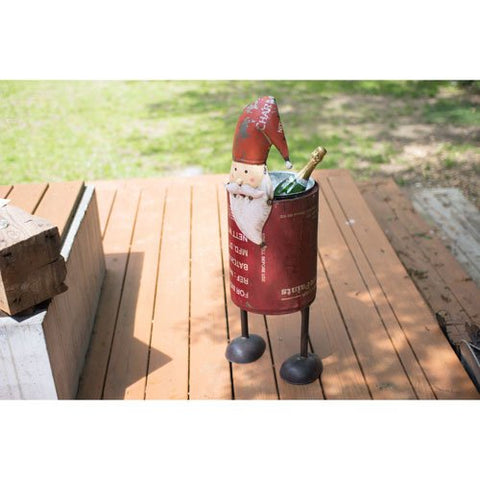 Recycled Iron Santa Cooler - Les Spectacles French Industrial