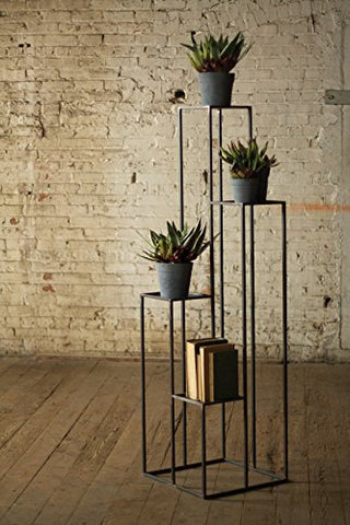 Tall Multilevel Iron Pedestals - Les Spectacles French Industrial