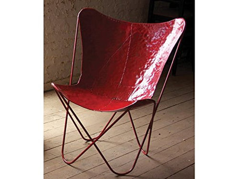 Iron Butterfly Chair - Red - Les Spectacles French Industrial