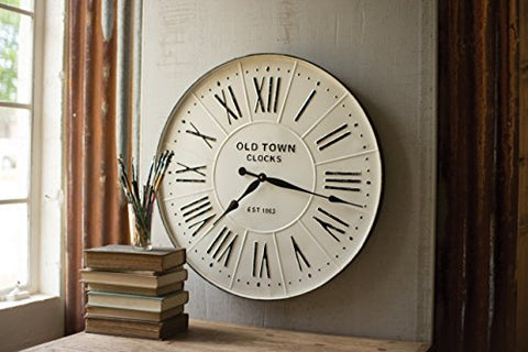 Enameled Wall Clock - Les Spectacles French Industrial