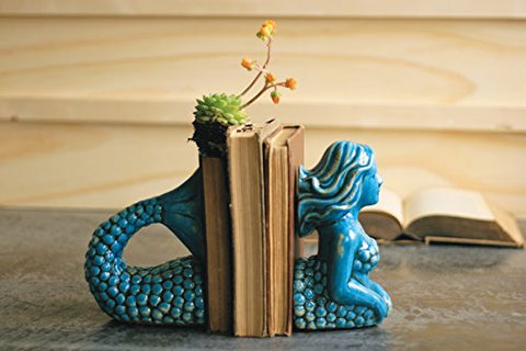 Ceramic Mermaid Bookends - Les Spectacles French Industrial
