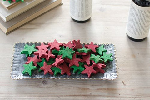 Red And Green Clay Stars-Bag Of 75 - Les Spectacles French Industrial