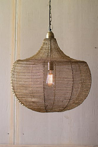 Wire Weave Pendant - Les Spectacles French Industrial