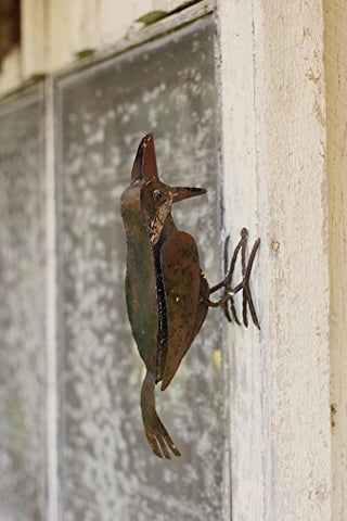 Rustic Metal Woodpecker - Rust - Les Spectacles French Industrial