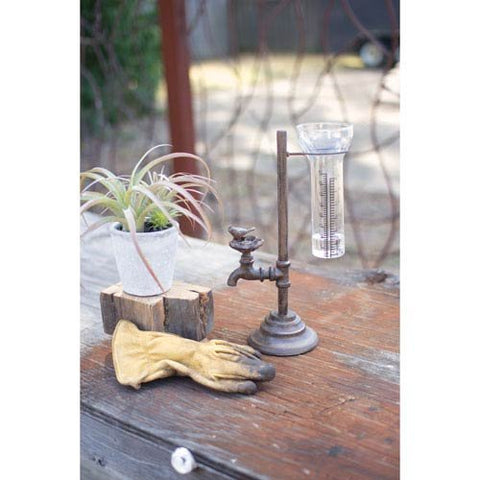 Cast Iron Water Tap Rain Gauge - Les Spectacles French Industrial