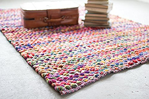 Recycled Multi-Color Cotton Rug - Les Spectacles French Industrial