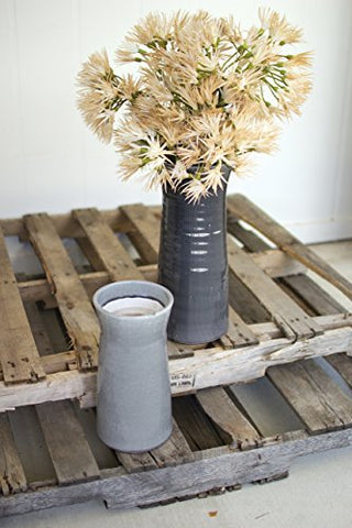 Set Of Two Grey Ceramic Vases