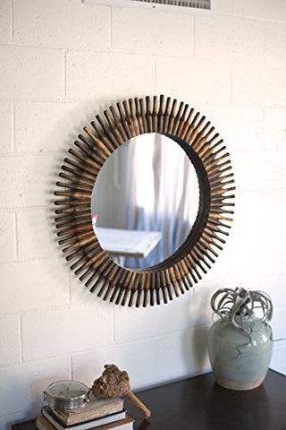 Half Roller Pin Mirror - Les Spectacles French Industrial