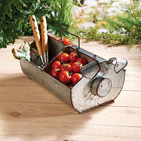 Galvanized Pig Trug - Les Spectacles French Industrial