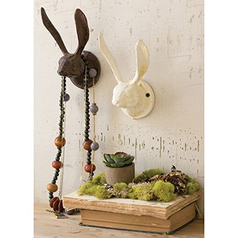 Cast Iron Rabbit Wall Hook - Rustic - Les Spectacles French Industrial